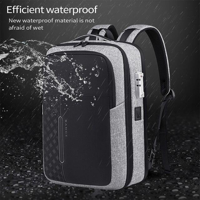 Bange Men Business Backpack Multifunction USB Charging 15.6 Inch Anti thief Laptop Bag Large Capacity Waterproof Travel Bags 1