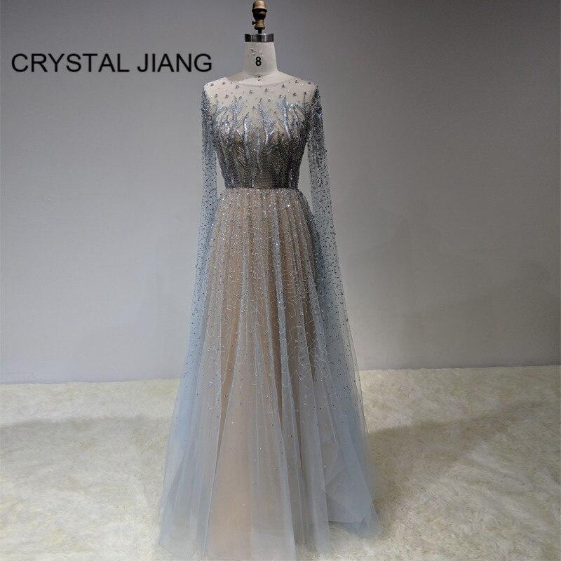Nouvelle mode 2020 robes de soirée formelles longue dentelle de luxe Robe de soirée Sexy Illusion Robe de soirée