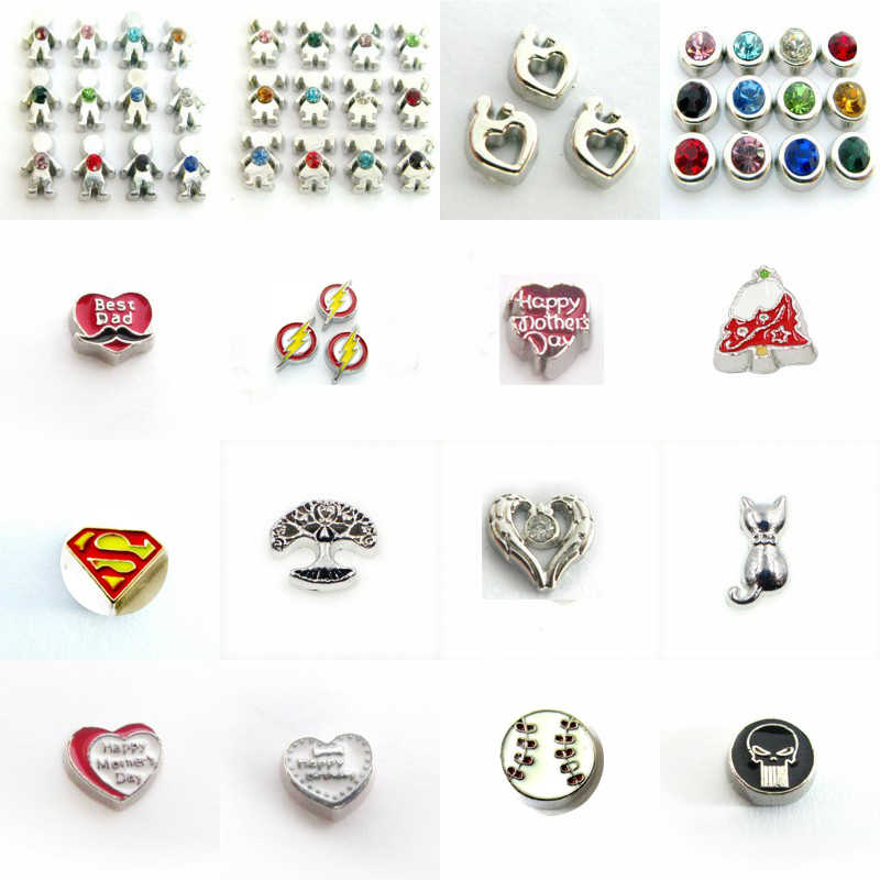 10 Pcs Geboortesteen Jongen Meisje Hond Poot Hart Charms Drijvende Charms Medaillon Living Charms Fit Drijvende Memory Medaillon Diy Accessoires