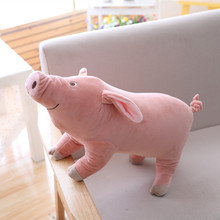 1pc 25cm Cute Cartoon Pig Plush Toy Stuffed Soft Animal Pig Doll for Children's Gift Kids Toy Kawaii Gift for Girls monsters inc 43cm sulley sullivan 25cm babblin boo plush toy monsters university soft stuffed doll for kids gift