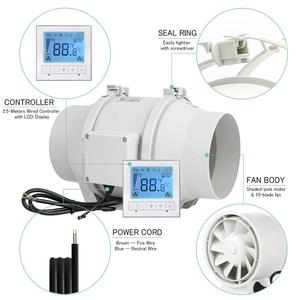 Image 4 - 6นิ้วจับเวลาExtractorพัดลมอินไลน์Smart Switch ControllerสำหรับHome KitchenระบายอากาศเรือนกระจกVentilator 220 ~ 240V