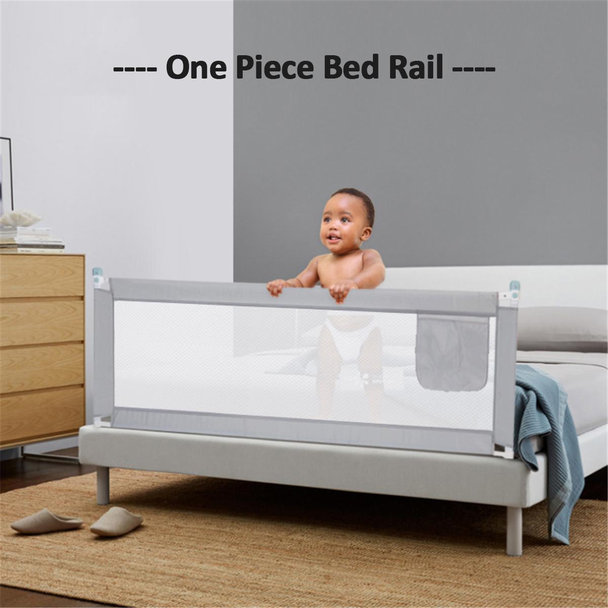 2M Kid Child Bedguard Toddler Safety Bed Rail Guard Rail Folding Sleep 150*80cm