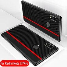 For Redmi Note 7 Case Fiber Leather Prot