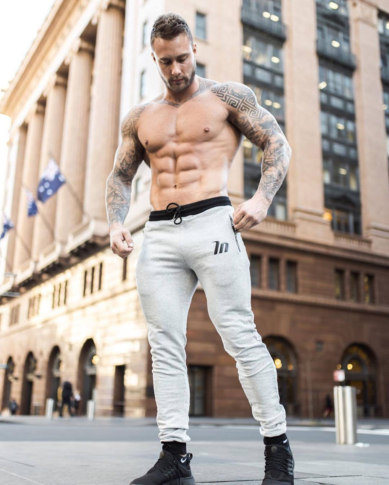 New Men Cotton Sweatpants Male Gyms Fitness Bodybuilding Workout Pant Casual Fashion Trousers Male Jogger Skinny Pencil Pants