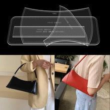 1 zestaw nowy DIY skóra Handmade moda torba na ramię torba pod pachami wykrój do szycia szablon akrylowy szablon 33*9*14CM