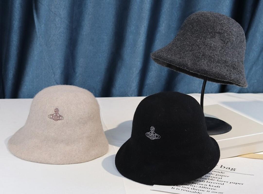 Women Hat Pure Wool Warm Female Cap Saturn Embroidery Winter Bucket Hat for Women Outdoor Sunscreen Sun Hat Panama Lady Cap New