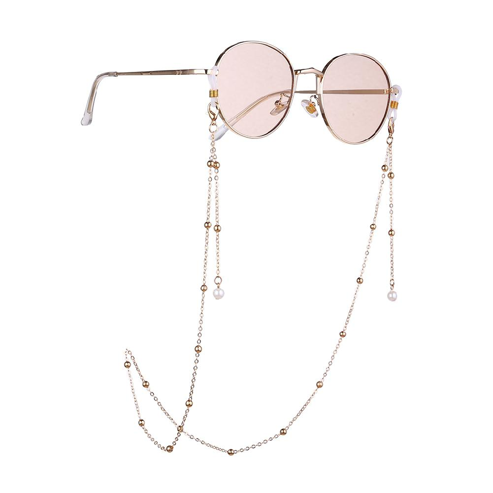 Pearl Glasses Chain Holder Women Fashion Anti-Slip Lanyard Necklace Sunglasses Necklace Eyeglass Beading Reading Neck Strap