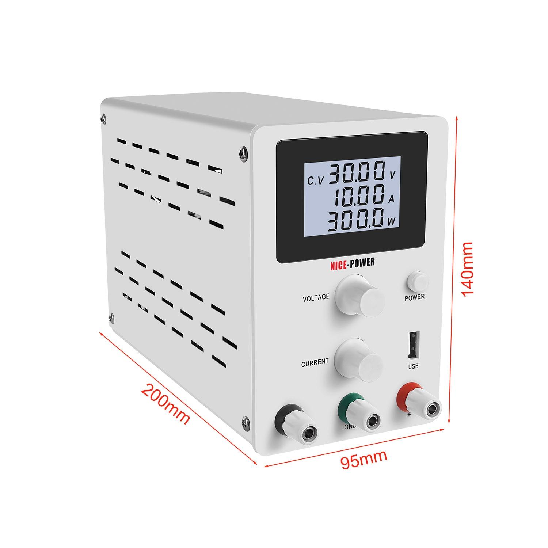 LCD Screen DC Lab Bench Power Supply 30v 10a 60v 5a Adjustable Switching Bench Source Digital Voltage Regulator 0.001A 120V 3A-4