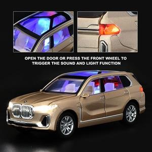 Image 3 - Modèle de voiture BWM X7, moulage de véhicules jouets, Simulation de véhicules, lumière, son, jouet pour enfants, à collectionner, livraison gratuite, 1:24