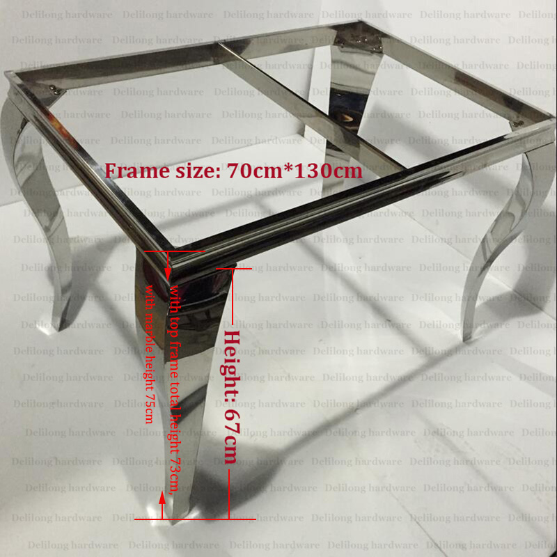 Stainless Steel Frame Table With Furniture Legs