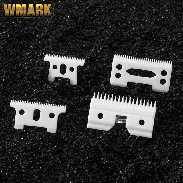 WMARK 2/10/100 pcs Ceramic moving blade with box for cordless clipper  D8 T outliner 8081 detailer  GTO Replaceable blade