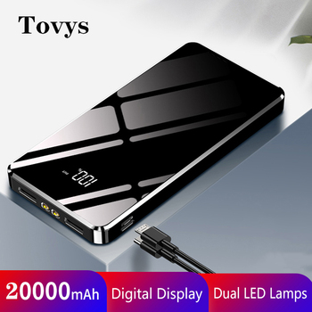 20000mAh Power Bank Portable Charger External Battery For iPhone 12 Pro max XS XR X Dual USB Type C
