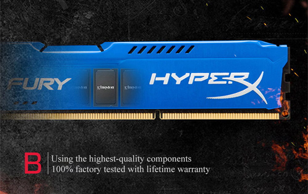 Kingston HyperX Fury DDR3 8GB/4GB Desktop RAM with 1333MHz/1600MHz/1866MHz Memory Speed 6