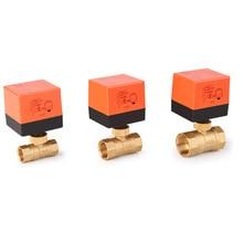 الكرة الكهربائية صمام AC220V DN15 50 3 wire 2 way التحكم النحاس الموضوع الكرة الكهربائية صمام مستقر صمام كروي مزود بمحرك