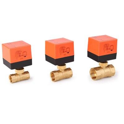 Válvula de Esfera elétrica AC220V DN15-50 2 3-wire-Fio De Bronze Válvula de Esfera Elétrica de Controle De maneira estável Motorizada Bola válvula