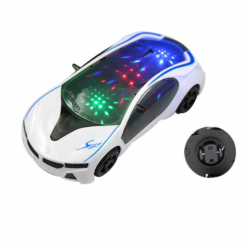 Детский спортивный автомобиль, 3D игрушка в стиле супермашины С колесными огнями и музыкой, детские игрушки для мальчиков и девочек, подарок, забавные игрушки
