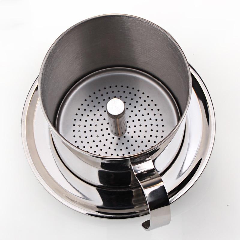 Vietnamese Coffee Filter Phin Vietnam Coffee Dripper Press Mechanism Reusable Drip Pot Dripper Cup Portable Stainless Steel