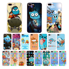 HOUSTMUST Cute cartoon gumball and darwin pattern Soft case for iphone 7 8 x xr 6s 6 plus xs max 5s 5 10 se cover silicone shell цены