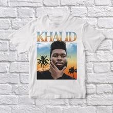 Camisa branca unissex do vintage de khalid 90