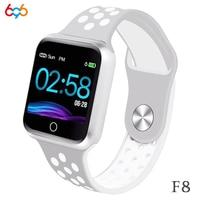 696 F8 מלא מגע מסך חכם צמיד לב קצב דם לחץ דם חמצן צג תנועה מעקב IP67 עמיד למים צמיד-בצמידים חכמים מתוך מוצרי אלקטרוניקה לצרכנים באתר