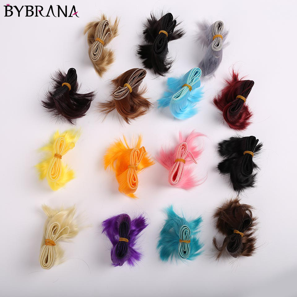 Bybrana 5cm*100cm Short Hair BJD WIG SD DIY WIG For Dolls