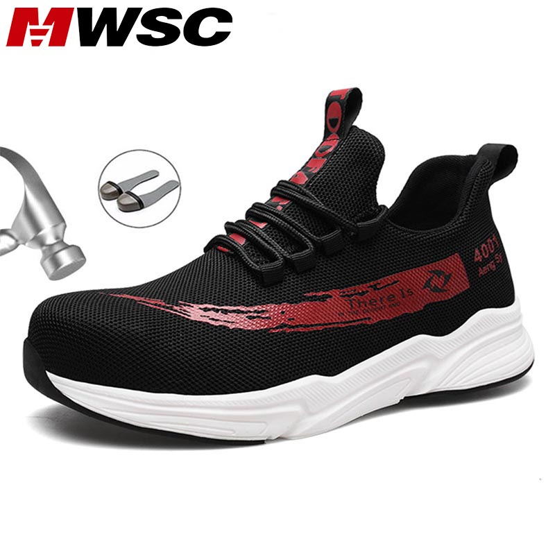 MWSC Safety Work Shoes For Men Autumn Indestructible Boots Shoes Steel Toe Head Anti-smashing Work Boots Male Safety Sneakers
