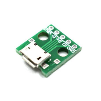 MICRO USB to Dip female seat B type mic 5p patch to in-line adapter board welded female image