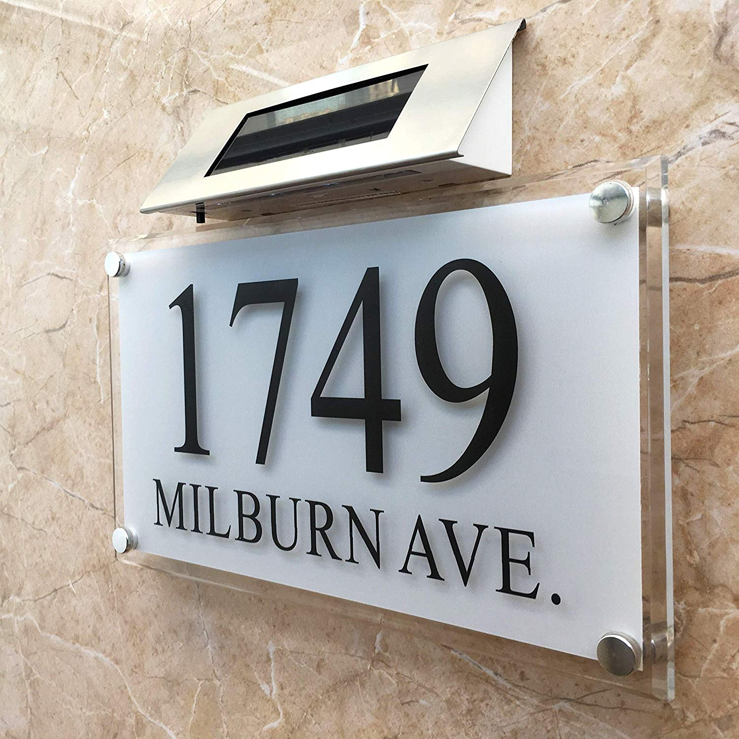 Personalised Large Solar Light Crystal Effect House Signs Plaques Door Numbers 1 9999 Street Name Plate Led Number House Solar Door Plates Aliexpress