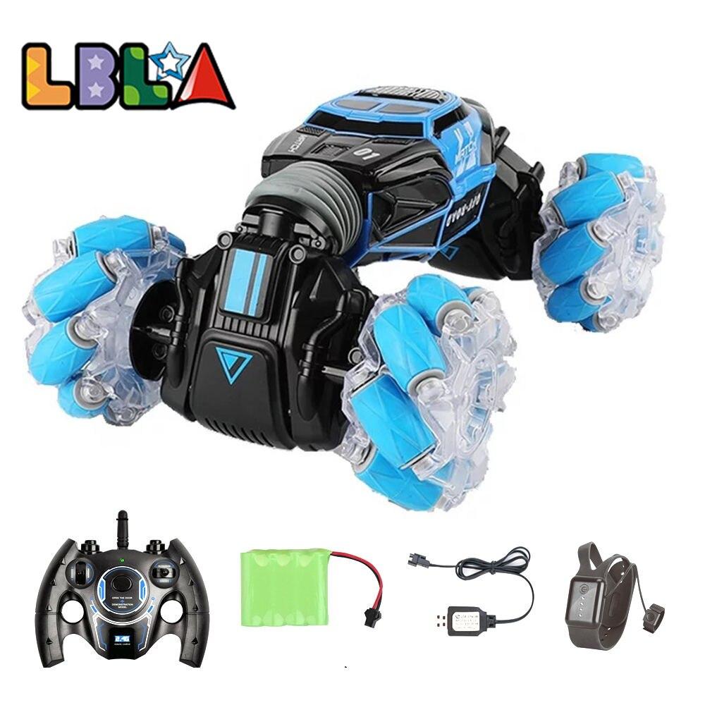 LBLA 4WD RC Stunt автомобилей часы Управление жест индукции деформируемая игрушка электрический р/у дрейфующая машинка-трансформер автомобильное детские игрушки с светодиодный светильник 1