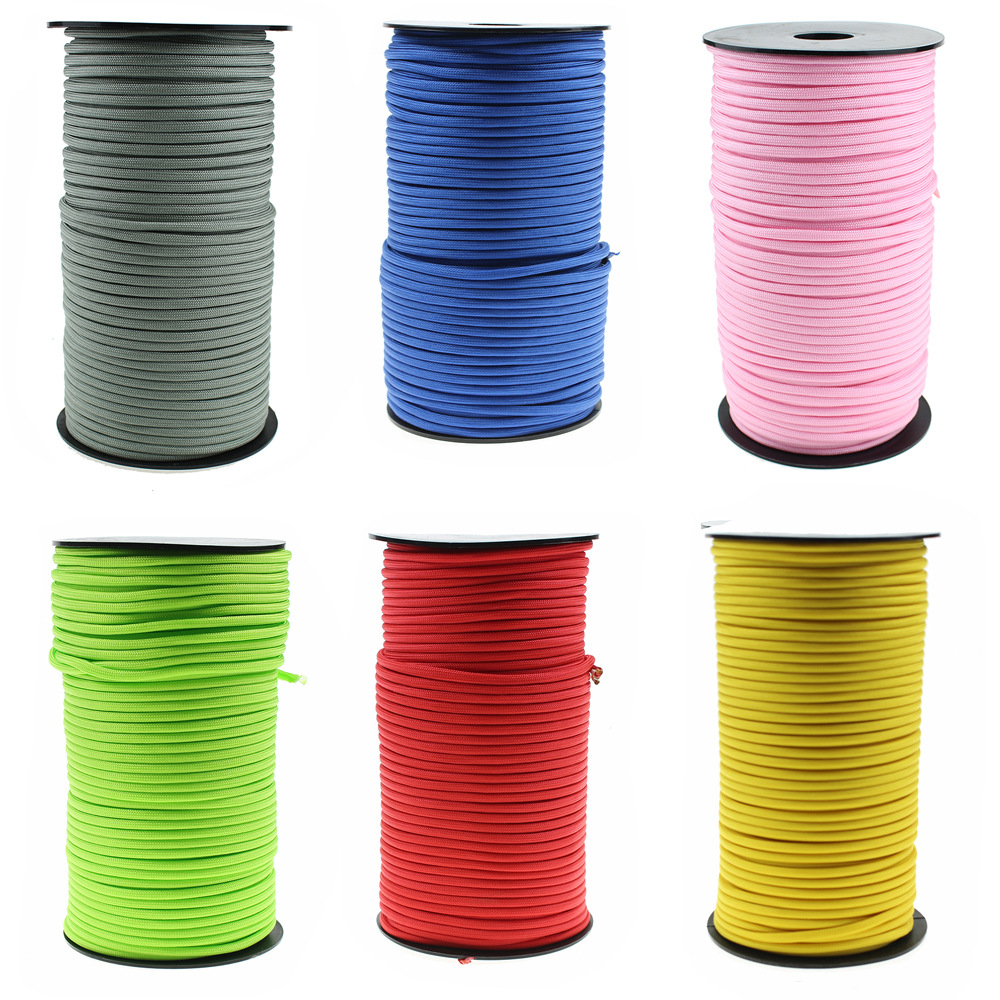 100m/Spool Paracord 550 7 Strand Outdoor Survival 4mm Rope Lanyard  Paracord Outdoor Survival Emergency  Cord