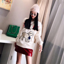 Autumn Women Sweatshirts Fluffy Little Lamb Unisex Long Sleeve Fashion Loose Pullover Soft Cotton Ladies Hoodies(China)