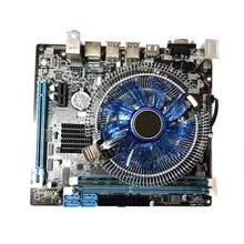 Computer Mainboard Atx 1set Hm55 Lga 1156 Desktop I5 4G Fan Game-Assembly-Kit Cooler