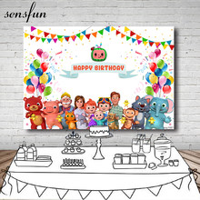 Sensfun Cute Baby Minnie Baby Shower 1st Birthday Party Sfondo per Le Ragazze di Colore Rosa Caldo Del Fumetto Fotografia Sfondi Vinile 7x5FT(China)