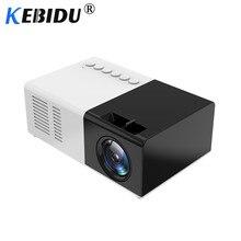 Kebidu J9 Mini projecteur portatif 1080P Mini projecteur à la maison AV USB SD TF carte USB Portable projecteur de poche avec téléphone PK YG300