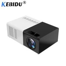 Kebidu mini projetor portátil j9, 1080p, mini projetor doméstico, av, usb, tf, cartão tf, usb, portátil, com bolso telefone pk yg300