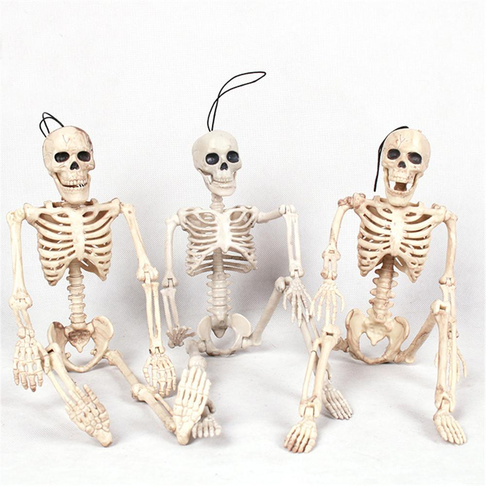Halloween <font><b>Poseable</b></font> <font><b>Skeleton</b></font> Figure With Movable Joints Haunted House Props For Halloween Party Decoration image