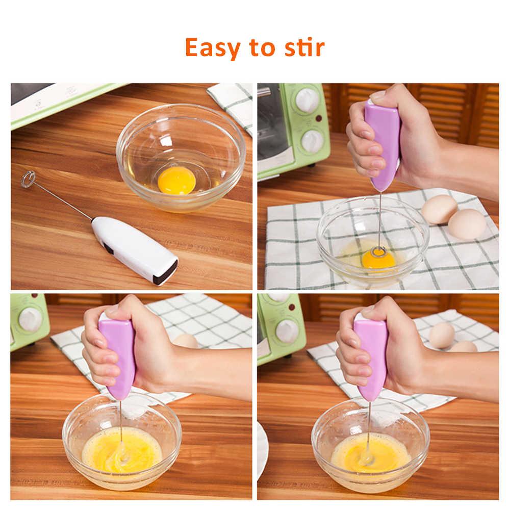 1pc leite bebida batedor de café misturador elétrico ovo batedor espuma mini punho agitador prático gadgets cozinha cozinhar ferramentas