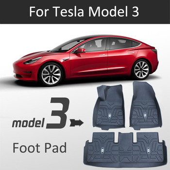 Waterproof And Wearable Floor Mats Foot Pads Automobile Carpet Car Covers For Tesla Model 3 2017 2018 2019