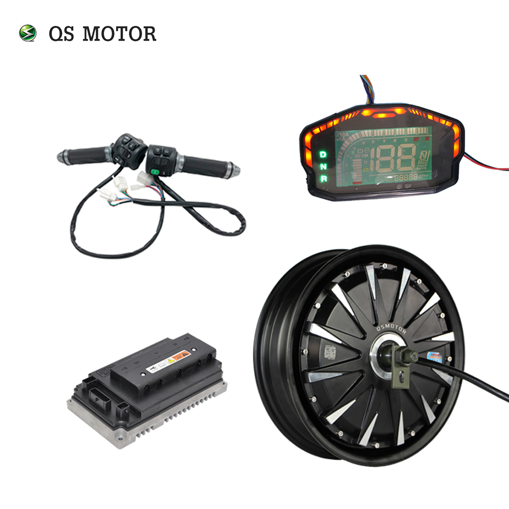QSMOTOR 12inch 3000W 72V 70kph Hub Motor With EM72100SP Controller And Kits For Electric Scooter