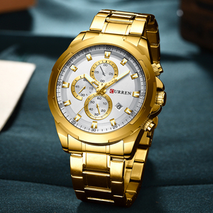 Image 2 - CURREN New Arrival Causal Style Auto Date Sporty Watches Men Business Quartz Wristwatch Stainless Steel Band Relogio Masculino