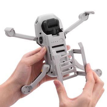 Zestaw do lądowania Quick Release dla DJI Mavic Mini Mini 2 Drone wysokość Extender długie nogi ochraniacz na stopę stojak Gimbal Guard akcesoria tanie i dobre opinie Crust Pro CN (pochodzenie) J2HC4NB701563 7 1x8 7x3 2cm 2 7x3 4x1 2in Landing Gear Grey for DJI Mavic Mini 1 Pc