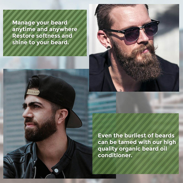 Hemp Oil Beard Growth Men's Beard Hair Growth Products Hair Conditioner Leave-In JIU55 2