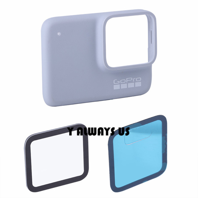 For GOPRO HERO 7 silver / white Lens Replacement Lens Tempered Protective Glass for Hero 7 Lens cover repair