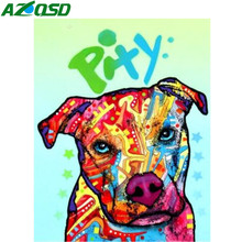 AZQSD Paint By Number Canvas Painting Kits DIY Unframe Dog Home Decoration Coloring By Numbers Cartoon Handpainted Gift(China)