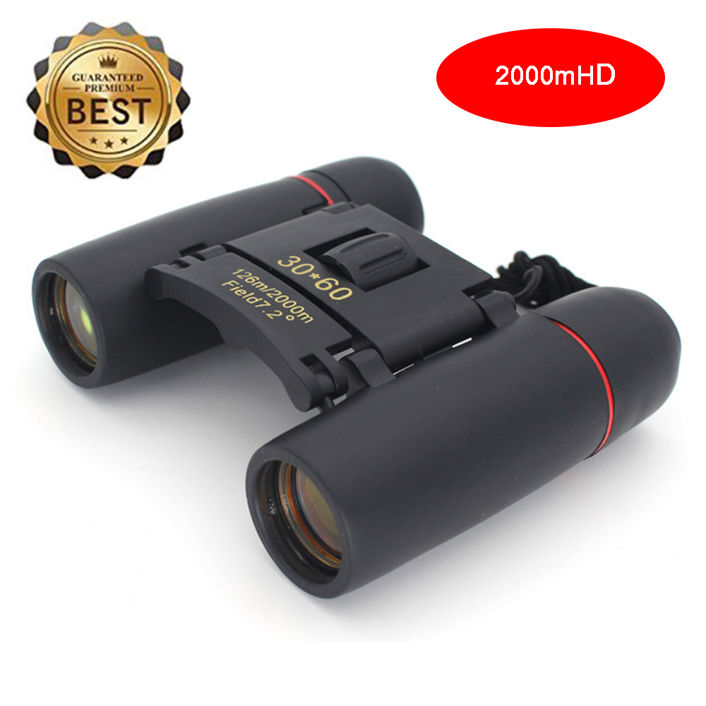Zoom Telescope 30x60 Folding Binoculars With Low Light Night Vision For Outdoor Bird Watching Travelling Hunting Camping 2000m