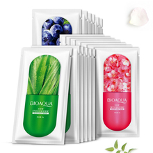 10Pcs BIOAOUA Face Mask Jelly Deepth Moisturizing Serum Sleep Facial Whitening Nutritious Oil Control Skin Care