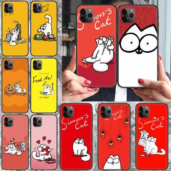 cartoon Simons cat Phone case For iphone 4 4s 5 5S SE 5C 6 6S 7 8 plus X XS XR 11 PRO MAX 2020 black hoesjes tpu funda painting image