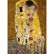 MaxRenard Puzzles 1000 Stück 50*70cm Gustav Klimt Der Kuss Holz Montage Welt Landschaft Puzzles Spielzeug für erwachsene