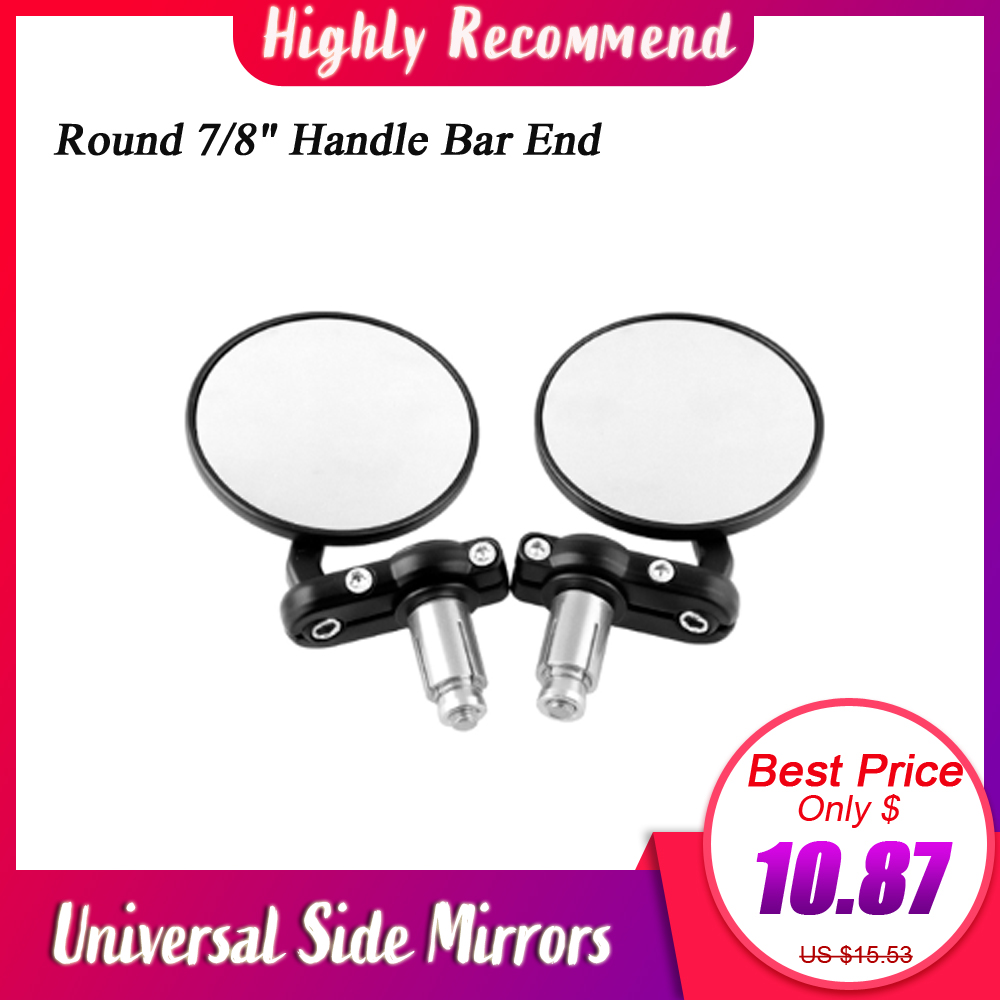 """CLASSIC CHROME MOTORCYCLE BAR END MIRROR 7//8/"""" BARS LEFT OR RIGHT FITMENT"""