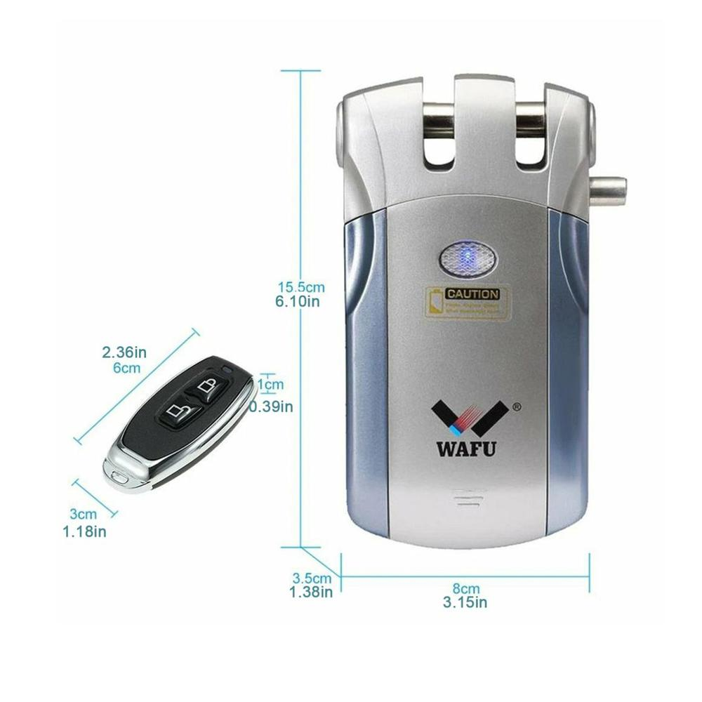 Wireless Remote Control Electronic Lock Invisible Keyless Entry Door Lock without USB 433mHZ Controllers Phone APP Control 2